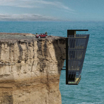 Dangerous places where people actually built homes
