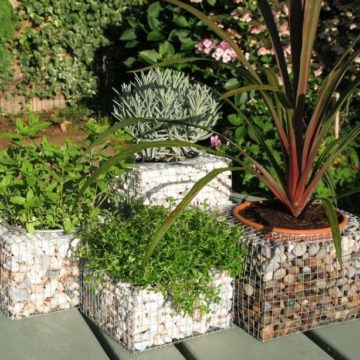 Gabions in landscape design